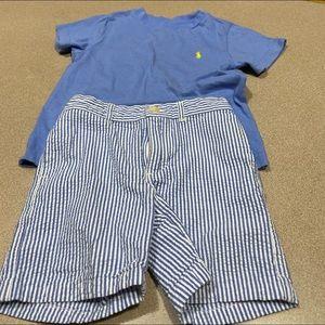 Boys 2T Ralph Lauren short Set